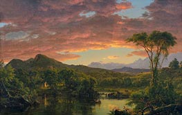 A Country Home, 1854 by Frederic Edwin Church | Painting Reproduction