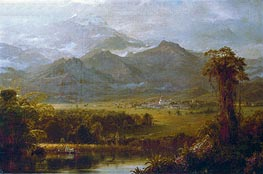 The Mountains of Ecuador, 1855 by Frederic Edwin Church | Painting Reproduction