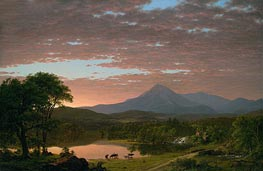 Mountain Ktaadn, 1853 by Frederic Edwin Church | Painting Reproduction
