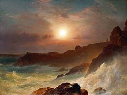 Coast Scene, Mount Desert, 1863 by Frederic Edwin Church | Painting Reproduction