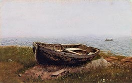 Abandoned Skiff, 1850 by Frederic Edwin Church | Painting Reproduction