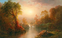 Autumn, 1875 by Frederic Edwin Church | Painting Reproduction