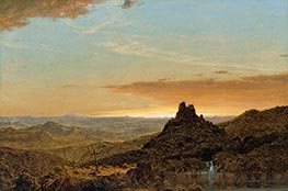 Cross in the Wilderness, 1857 by Frederic Edwin Church | Painting Reproduction