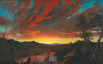 Twilight in the Wilderness, 1860 | Frederic Edwin Church | Gemälde Reproduktion