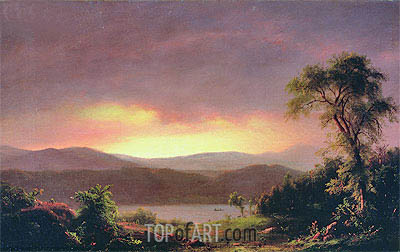 A Catskill Landscape, c.1858/60 | Frederic Edwin Church | Painting Reproduction