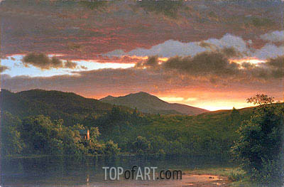 Twilight (Catskill Mountain), 1858 | Frederic Edwin Church | Painting Reproduction