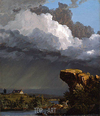 A Passing Storm, 1849 | Frederic Edwin Church | Painting Reproduction
