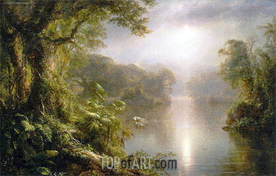 El Rio de Luz (The River of Light), 1877 | Frederic Edwin Church | Painting Reproduction