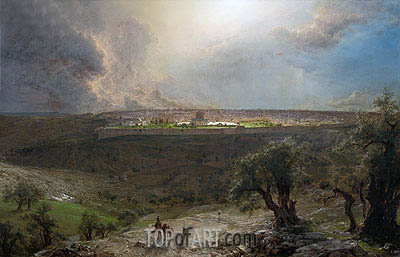 Jerusalem from the Mount of Olives, 1870 | Frederic Edwin Church | Painting Reproduction