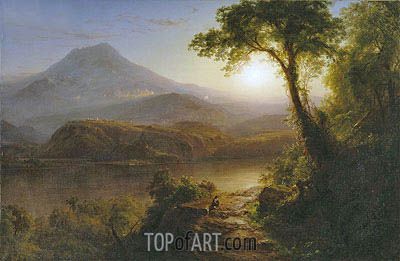 Tropical Scenery, 1873 | Frederic Edwin Church | Painting Reproduction