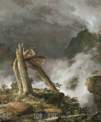 Storm in the Mountains, 1847 | Frederic Edwin Church | Gemälde Reproduktion