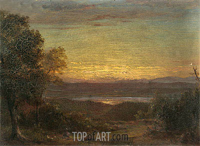 Sunset from Olana, 1891 | Frederic Edwin Church | Gemälde Reproduktion
