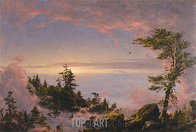 Above the Clouds at Sunrise, 1849 | Frederic Edwin Church | Painting Reproduction