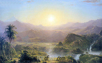 The Andes of Ecuador, 1855 | Frederic Edwin Church | Painting Reproduction