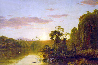 Scene on the Magdalena, 1854 | Frederic Edwin Church | Painting Reproduction