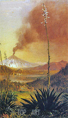 Cotopaxi, undated   Frederic Edwin Church   Painting Reproduction