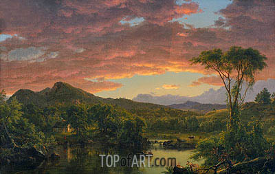 A Country Home, 1854 | Frederic Edwin Church | Painting Reproduction