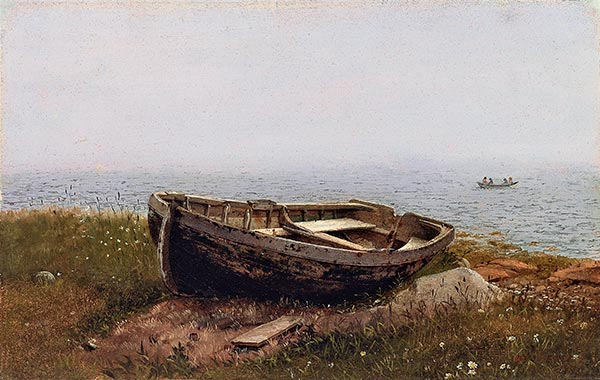 Abandoned Skiff, 1850 | Frederic Edwin Church | Painting Reproduction