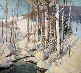 Winter Calm, Undated by Frederick J. Mulhaupt | Painting Reproduction