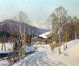 February Morning (New Hampshire), Undated by Frederick J. Mulhaupt | Painting Reproduction