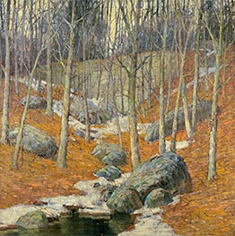 Winter near Gloucester, Massachusetts, Undated by Frederick J. Mulhaupt | Painting Reproduction
