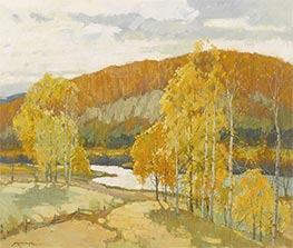 Autumn, Undated by Frederick J. Mulhaupt | Painting Reproduction