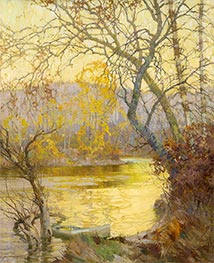 An October Evening, Undated by Frederick J. Mulhaupt | Painting Reproduction