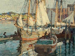 Nova Scotia Fisherman, Gloucester, Undated by Frederick J. Mulhaupt | Painting Reproduction