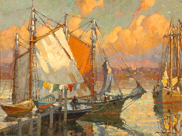 Glow after Rain, 1905 | Frederick J. Mulhaupt | Painting Reproduction
