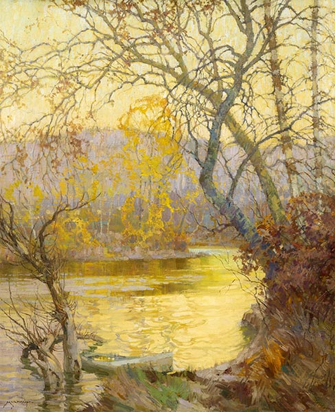 An October Evening, Undated | Frederick J. Mulhaupt | Painting Reproduction