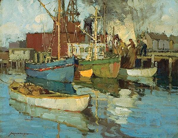 Harbor Life, Undated | Frederick J. Mulhaupt | Painting Reproduction