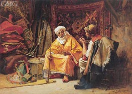 The Rug Merchants, undated by Frederick Arthur Bridgman | Painting Reproduction