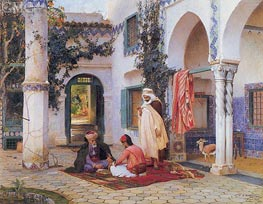 The Courtyard, 1873 by Frederick Arthur Bridgman | Painting Reproduction