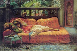 The Siesta (Afternoon in Dreams), 1878 by Frederick Arthur Bridgman | Painting Reproduction