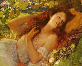 Dolce Far Niente (Sweet Nothings), undated by Frederick Arthur Bridgman | Painting Reproduction