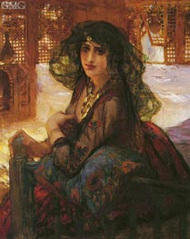 Harem Girl | Frederick Arthur Bridgman | Painting Reproduction