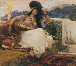 L'Indolence, undated by Frederick Arthur Bridgman | Painting Reproduction