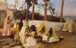Women at the Cemetery, Algiers, undated by Frederick Arthur Bridgman | Painting Reproduction