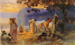 On The Coast Of Kabylie, undated by Frederick Arthur Bridgman | Painting Reproduction