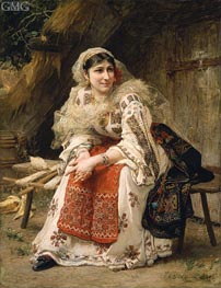 Armenian Woman, 1882 by Frederick Arthur Bridgman | Painting Reproduction