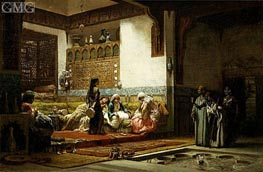 Moorish Interior | Frederick Arthur Bridgman | Painting Reproduction