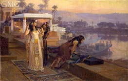 Cleopatra on the Terraces of Philae | Frederick Arthur Bridgman | Painting Reproduction