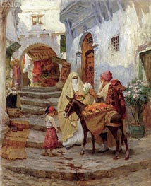 The Orange Seller, 1920 by Frederick Arthur Bridgman | Painting Reproduction