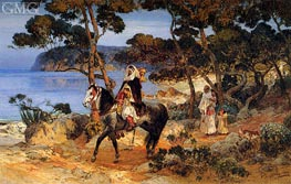 A Coastal Trail | Frederick Arthur Bridgman | Painting Reproduction