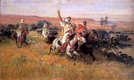 The Falcon Hunt, undated von Frederick Arthur Bridgman | Gemälde-Reproduktion