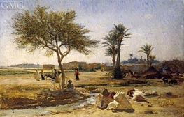 An Arab Village, 1879 by Frederick Arthur Bridgman | Painting Reproduction