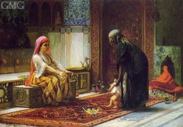 Mother and Child (The First Steps), 1878 von Frederick Arthur Bridgman | Gemälde-Reproduktion