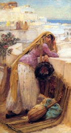 On the Terrace, undated by Frederick Arthur Bridgman | Painting Reproduction