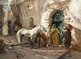 Scene in Morocco, 1885 by Frederick Arthur Bridgman | Painting Reproduction