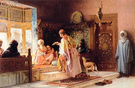 The Messenger, 1879 von Frederick Arthur Bridgman | Gemälde-Reproduktion